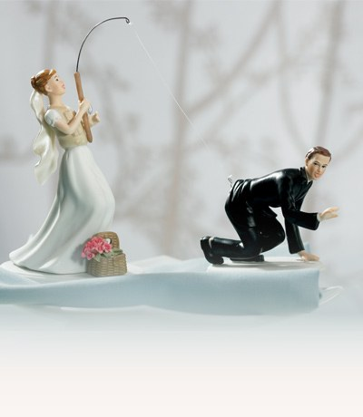 Funny Cake Decorations Uk : Bride & Groom Cake Toppers - Confetti.co.uk