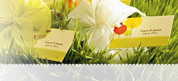 Large Rectangular Wedding Tags