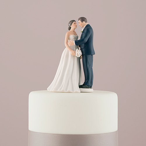 Cake Toppers Uk Bride And Groom : Contemporary Vintage Bride and Groom Porcelain Figurine ...