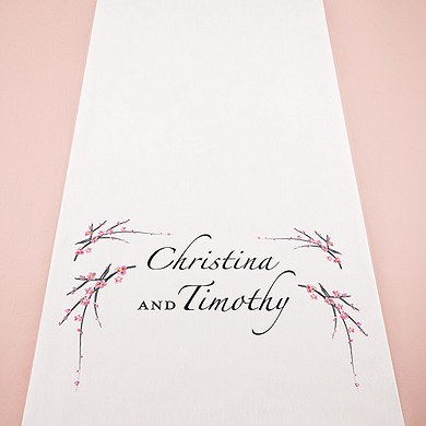 Cherry Blossom Personalized Wedding Aisle Runner