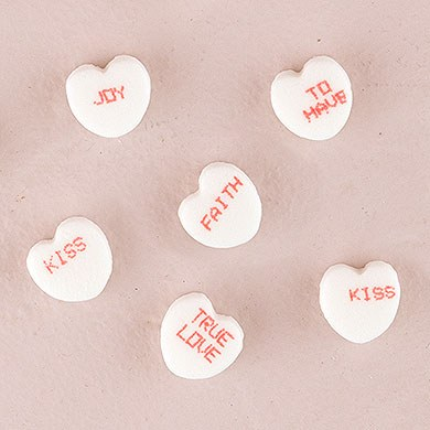 Conversation Hearts Wedding Favor Candy Medium
