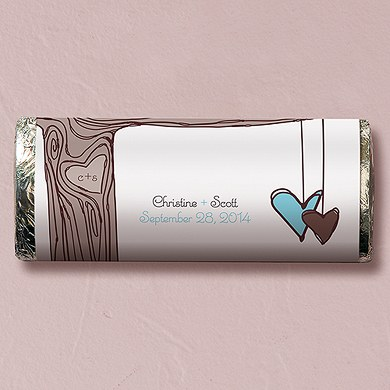 Heart Strings Chocolate Bar Wedding Favor