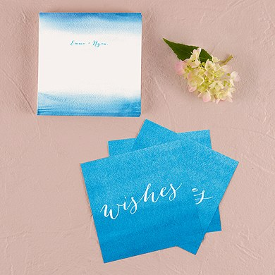 Aqueous Wedding Memory Box Well Wishing Cards