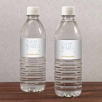 Vintage Travel Water Bottle Label