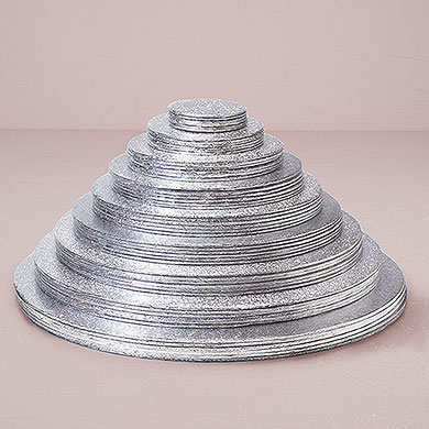 Wedding Cake Accessory Foil Wrapped Round Cake Boards