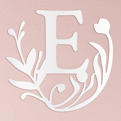 Modern Fairy Tale Acrylic Initial   White
