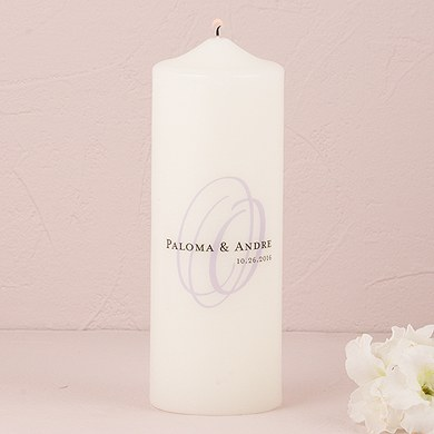 monogram unity ceremony accessories candle