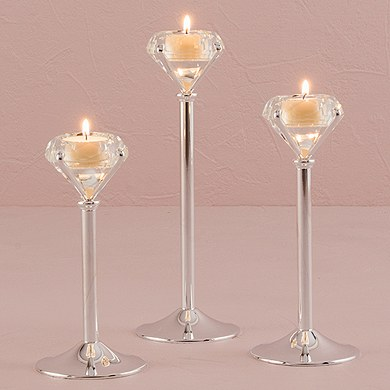 Diamond Shaped Wedding Tea light Candle Holders