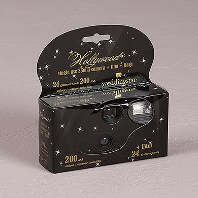Hollywood Design Single Use Wedding Favor Camera