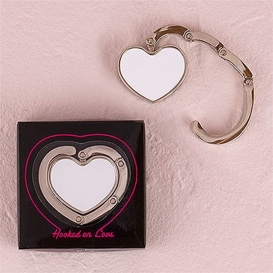 White Heart Shaped Wedding Bridal Purse Hook