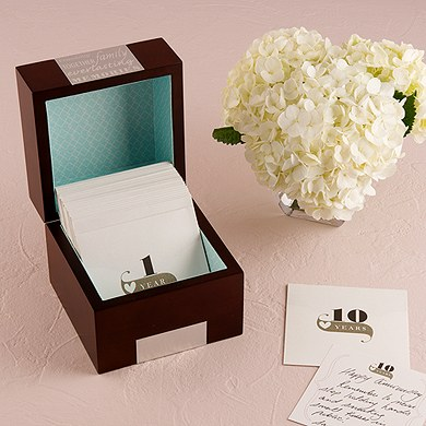 Wooden Wedding Anniversary Memory Note Box