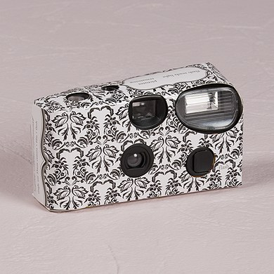 Love Bird Damask Design Disposable Camera