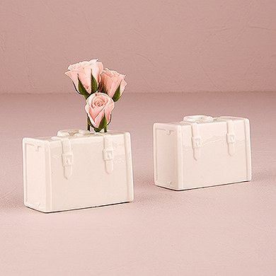 Minature Porcelain Luggage Vase