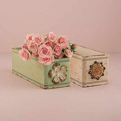 Vintage Inspired Ornate Box with Decorative Pull