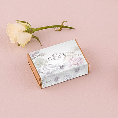 Kraft Drawer-Style Favor Box with Floral Dreams Wrap