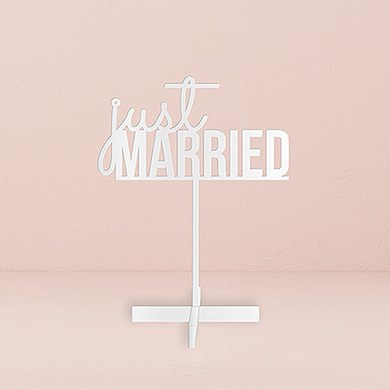Just Married  Acrylic Sign   White