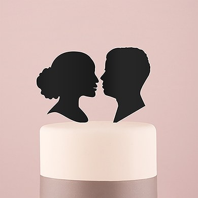 Sweet Silhouettes Acrylic Cake Topper   Black
