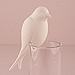 Perching White Ceramic Bird