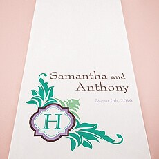 Lavish Monogram Personalized Aisle Runner