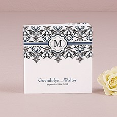 Notepad Favor with Personalized Lavish Monogram Cover