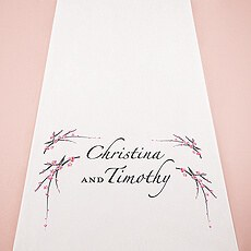 Cherry Blossom Personalized Aisle Runner