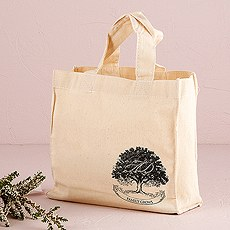Family Oak Tree Personalized Tote Bag