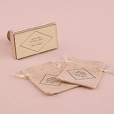 Diamond Shape Personalized Rubber Stamp
