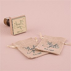 Feather Whimsy Personalized Thank You Rubber Stamp