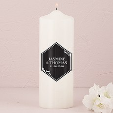 Black and Gold Opulence Unity Candle