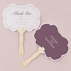 Contemporary Vintage Personalized Hand Fan
