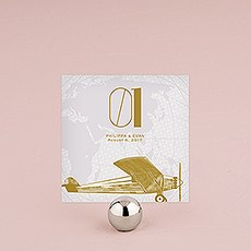 Vintage Travel Assorted Square Table Numbers