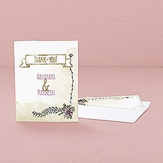 Natural Charm Thank You Card With Fold