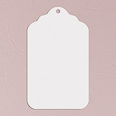 Merchandise Tag Plain - White