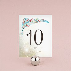 Feather Whimsy Table Numbers