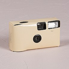 Ivory Single Use Camera – Solid Color Design