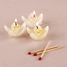 White Orchid Candles - Mini