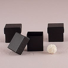 Seta Nero - Black Favor Boxes