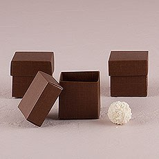 Seta Marrone - Chocolate Brown Favor Boxes