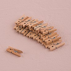 Natural Mini Wooden Clips