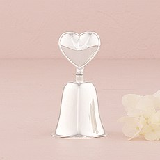 Silver Plated Heart Handled Bell