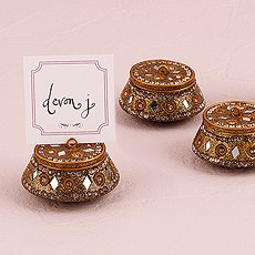 Moroccan Style Gold Favor Box Place Card Holder