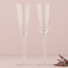 Classic Engraved Wedding Champagne Glasses