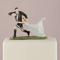 Love Tackle Bride and Groom Cake Topper
