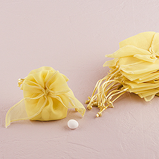 Organza Drawstring Favor Bags with Bow
