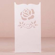 """Light The Way"" Paper Bags with Die Cut Rose Pattern"
