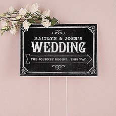 Chalkboard Print Design Directional Sign