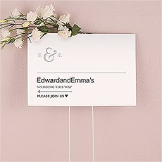 Monogram Simplicity Directional Sign - Simple Ampersand