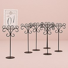 Ornamental Wire Stationery Holders Tall - Black