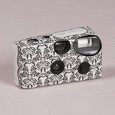 Single Use Camera - Love Bird Damask Design