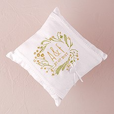"Natural Charm ""Simply Sweet"" Personalized Ring Pillow"